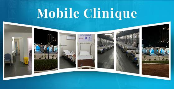 Inauguration de la Clinique Mobile pour les Patients de COVID-19